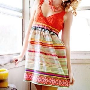 Free People Nordic cableknit embroidered dress 8